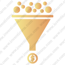 Funnel with coins