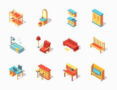 Furniture Isometric