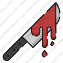 Bloodstained knife