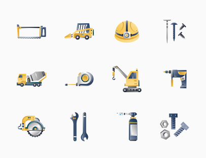 Construction Tools Gradient