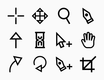 Different cursors