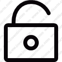 Unlocked interface padlock Unlock