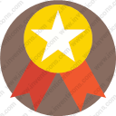 Medal reward star Award gold
