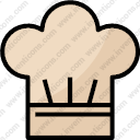 chef hat pot kitchen foodrestaurant occupationwork kitchenutensils