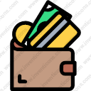 Download Business Finance Holder Notes Wallet Card Money Vector Icon Inventicons