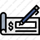Download Check Business Finance Banker Dollarsign Bank Writinginstrument Vector Icon Inventicons