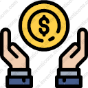 Download Gesture Dollar Coin Dollar Sign Currency Payment Dollar Vector Icon Inventicons