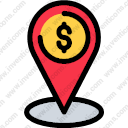 map location business finance dollar sign map point map location location identification