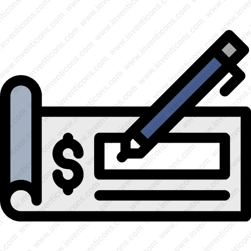 Download check,business,finance,banker,dollarsign,bank,writinginstrument  icon | Inventicons