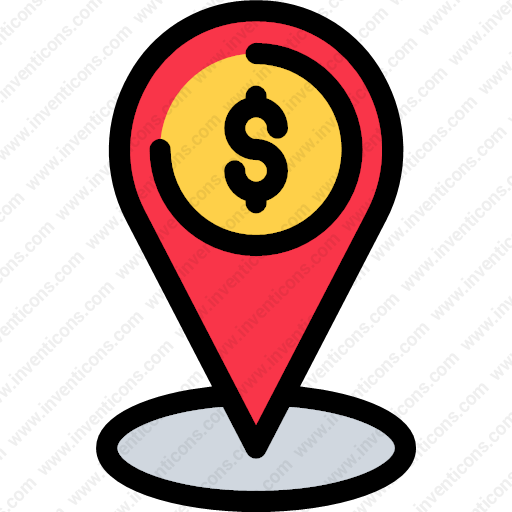 Download map,location,business,finance,dollar,sign,point,identification  icon | Inventicons