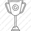 Award trophy winner