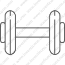 Dumbbell fitness gym weights
