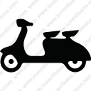 Delivery motorcycle vehicle passenger