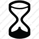 Hourglass time timer retro