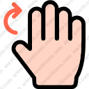 Finger gesture hand multimedia option rotation