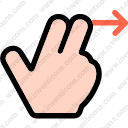 Swipe leftright multimedia options finger gesture hand