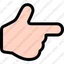 finger point gesture hand