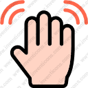 finger waving hand hand multimedia options gesture