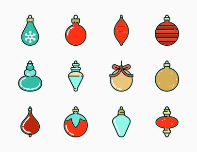 Linear Christmas Baubles