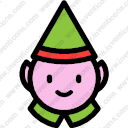 Christmas character portrait man gnome