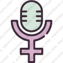 gender feminism microphone female woman womanvoice girl