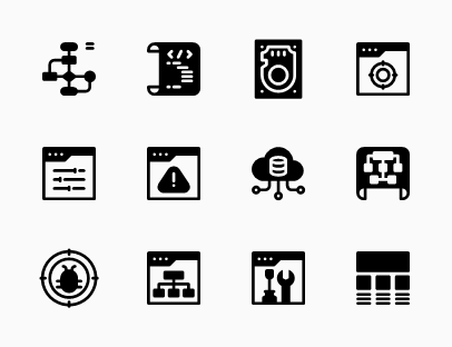 Web Design Development Glyph