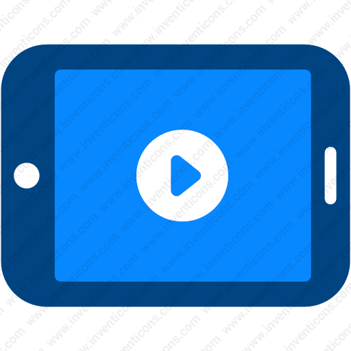 Download media,media player,multimedia,tablet,video player icon |  Inventicons