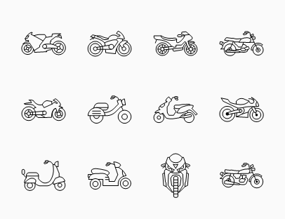 Collection of Sport Motorbikes
