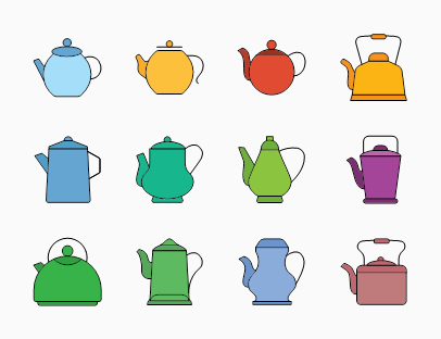 Set of Vintage Teapots
