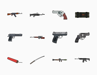 Military Weapons Colour Pack