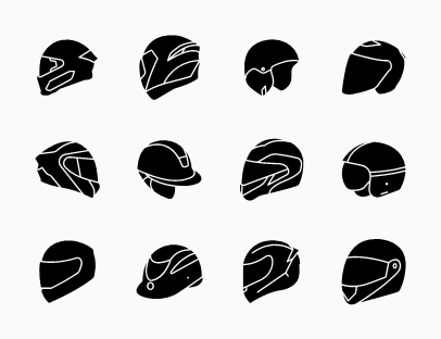 Set of Bikers Helmet