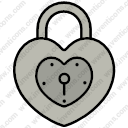Heart Shaped Padlock
