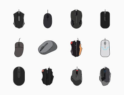 Computer Mouse Colour Pack