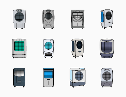 Set of Air Coolers