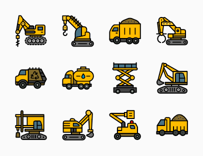 Set of Construction Machines
