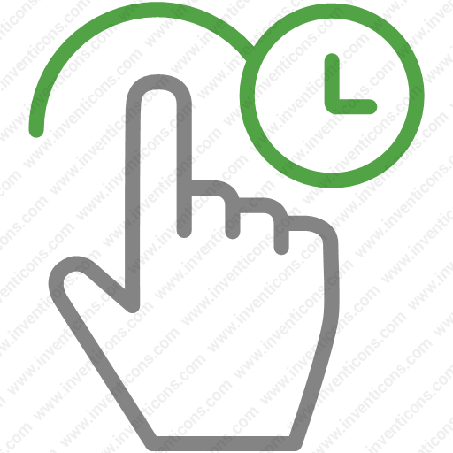 Download gesture,touch,hand,hold,clock icon   Inventicons