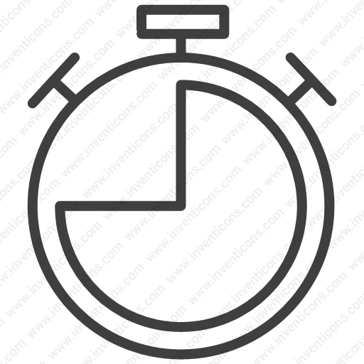 Download pause,stop,watch,time,clock icon   Inventicons