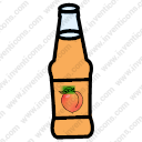 Peach Juice Bottle