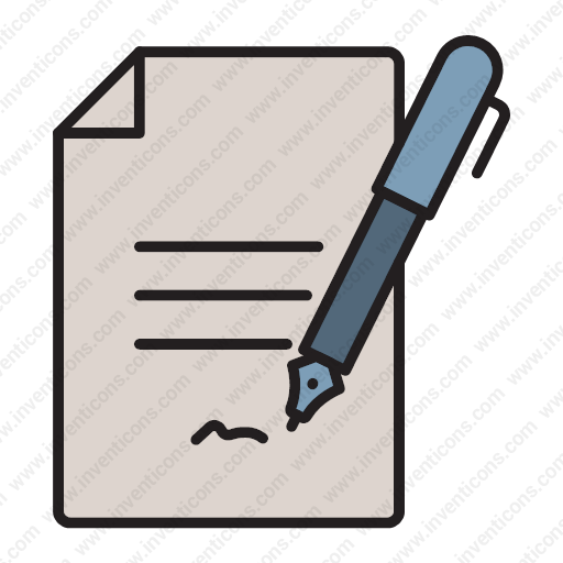 download document signature contract contract agreement icon