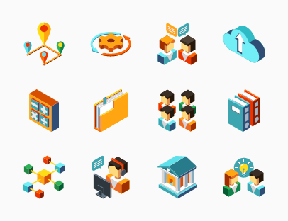 Business Management Isometric