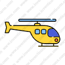 Transport Helicopter Lineal Color