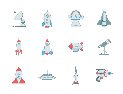 Space and rocket