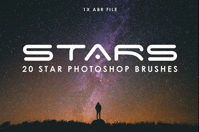 20 Star Photoshop Brushes
