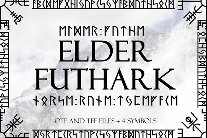 Norse Elder Futhark Typeface