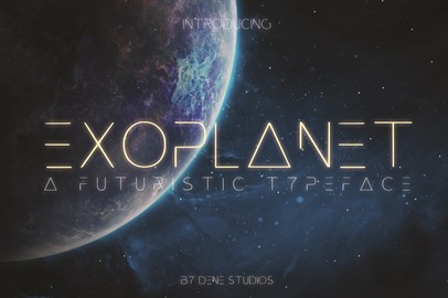 EXOPLANET - A Futuristic Typeface