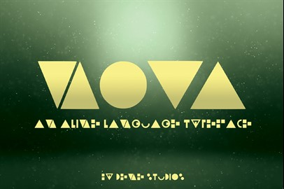 NOVA - An Alien Language Typeface