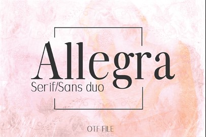ALLEGRA Typeface: A Beautiful Font Duo