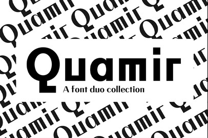 QUAMIR Typeface: A Display Font Duo