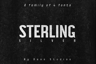 STERLING Typeface: A Powerful Sans Serif