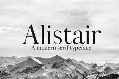 ALISTAIR Typeface - a Serif Font